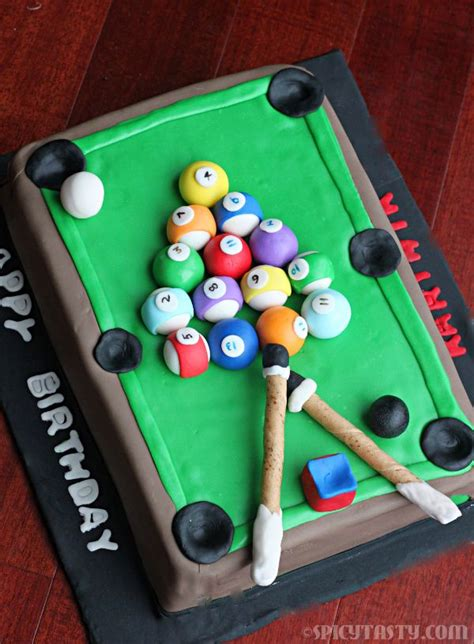 367 Best Images About Cakes For Men Only On Pinterest Pool Table Cake