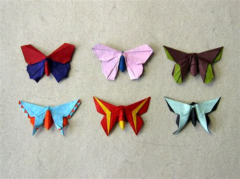 Michael Lafosse Origami - various butterflies michael lafosse happy folding