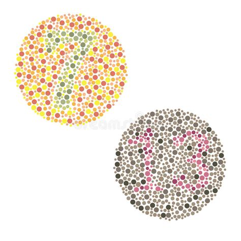 monochrome color blindness ishihara test stock image image of health monochrome