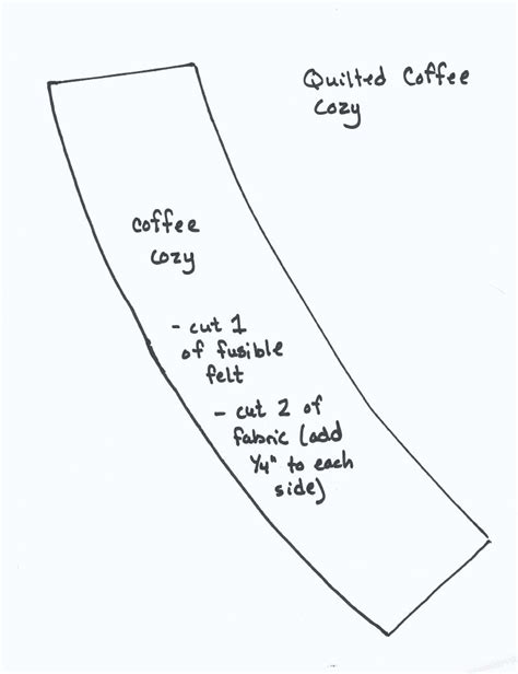 Quick Quilted Coffee Cozy Favequilts Com Coffee Cozy Template