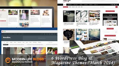 theme blog wordpress 2014 6 wordpress blog magazine themes march 2014