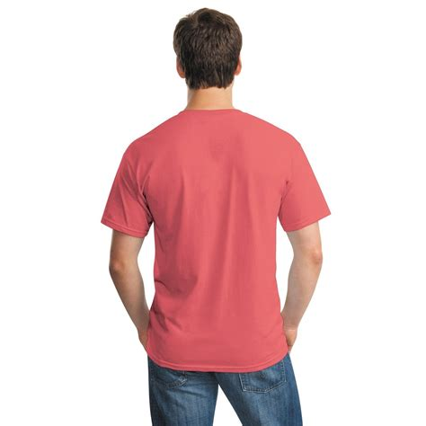 coral silk color gildan 5000 heavy cotton t shirt coral silk fullsource
