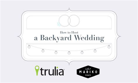 trulia blog tips on hosting a backyard wedding with trulia make it