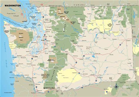 pacific northwest map wash 00 washington