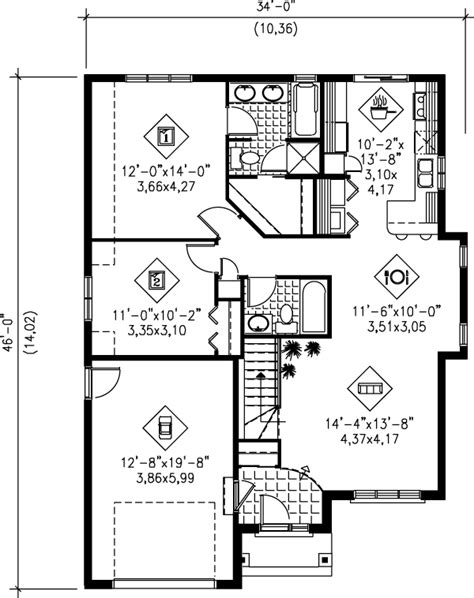 floor plans for 1100 sq ft home cottage style house plan 2 beds 2 baths 1100 sq ft plan