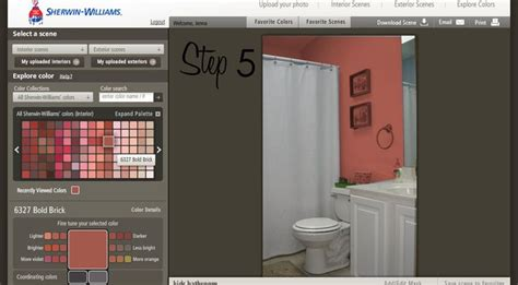 sherwin williams paint visualizer tool a color and see it on a wall you can