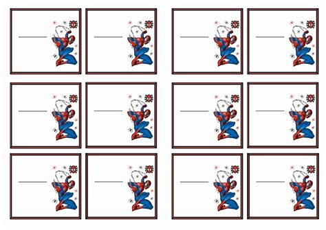 large printable name tags free printable spiderman themed name tags themed name