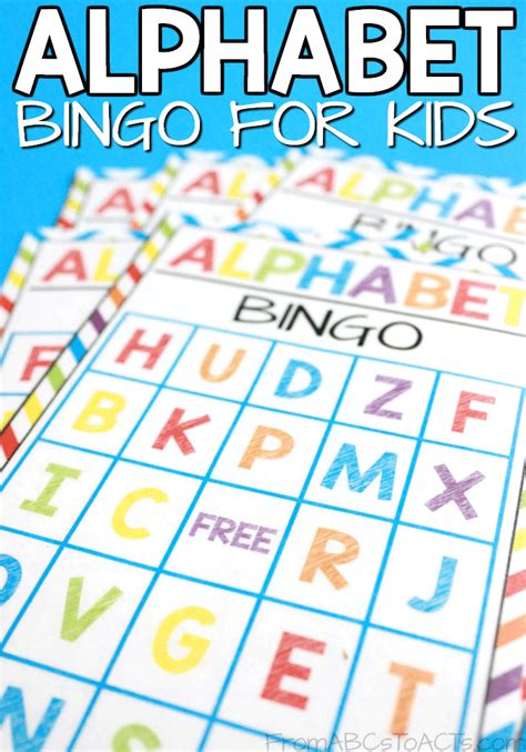 printable alphabet bingo printable alphabet bingo for kids from abcs to acts