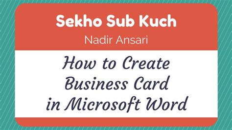how to make business cards on microsoft word template word tutorial how to create business card in microsoft