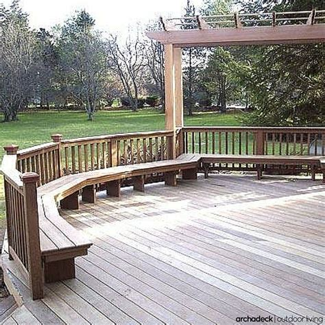decks with benches built in 117 best images about built in deck seating benches