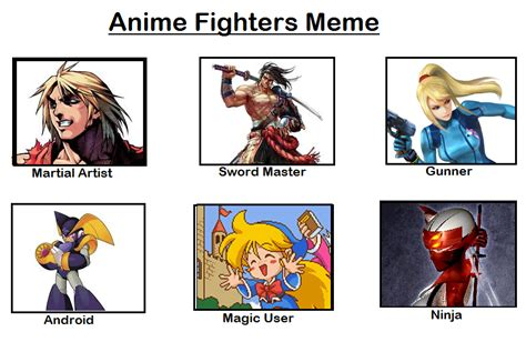 Fighter Meme - anime fighters meme by falconreachhero on deviantart