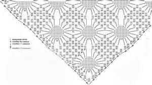 шали вязанные со схемами