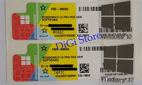 Windows 10 Pro Oem Original Baru Dan Bergaransi Coa Sticker 05 18 16 unik motor