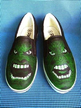 Sepatu Vans Bergambar seni sepatu kanvas lukis februari 2014