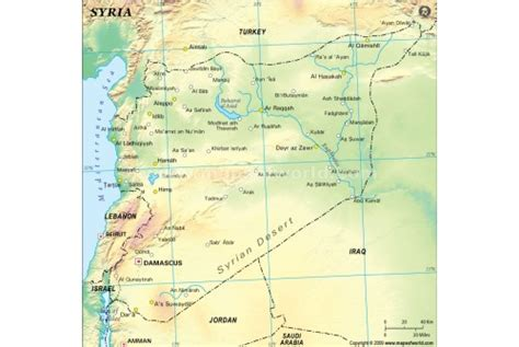 Syiria Green buy syria physical map green
