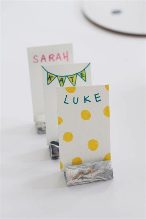 make place card holders bookhoucraftprojects project 207 marbled place card holders
