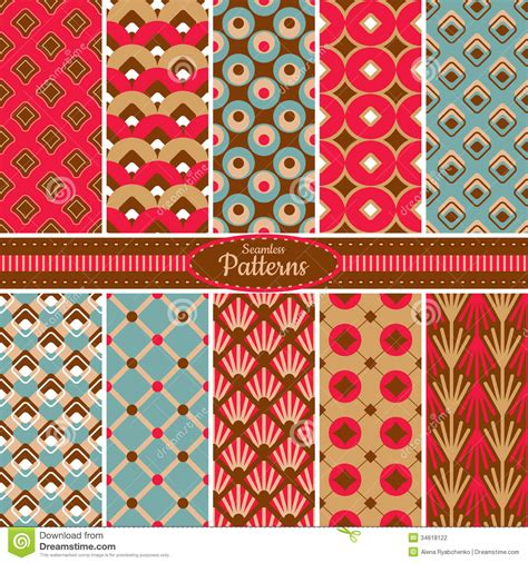 pattern collection download collection of seamless pattern backgrounds stock vector