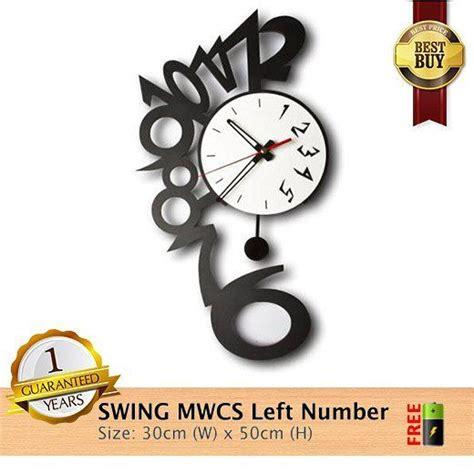 Barang Terlaris Mesin Jam Dinding Sweep Movement Tidak Berisik jam dinding mwcs swing left number spesifikasinya 1 mesin seiko quartz sweep movement yang