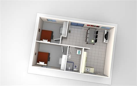 Two bedroom flat plans (photos and video