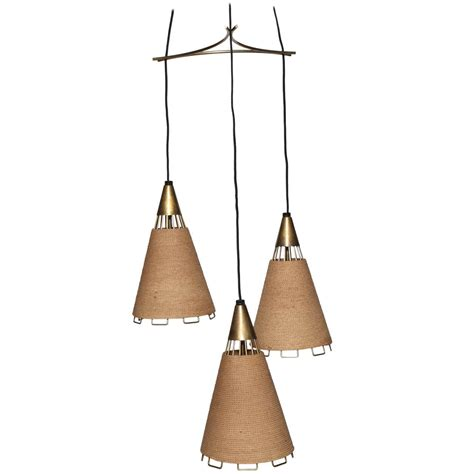 Pendants And Chandeliers Mid Century Modern 3 Pendant Chandelier At 1stdibs