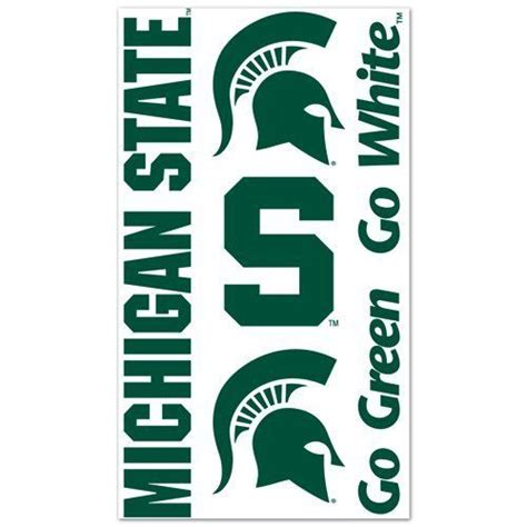 michigan state university tattoos by nascar 2 49