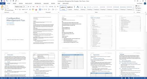 Configuration Management Plan Download 24 Page Ms Word Template Facilities Management Plan Template