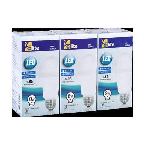 Paket 5pc Lu Led Nichata zenlite 8 watt led ul beyaz işık a60 e27 3 l 252 paket zlled a19 8w modelleri ve fiyatları tekzen