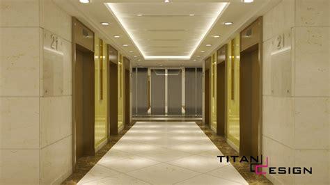 interior design office lobby lavatory titan design