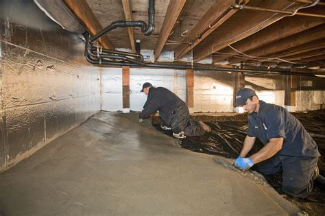 How To Seal Basement Concrete Floor by Concrete For Crawl Spaces Encapsulation Permadry