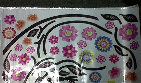 Wallpaper Stiker Dinding 5 46pr Motif Mawar Pink Termurah stiker dinding flower stiker dinding murah