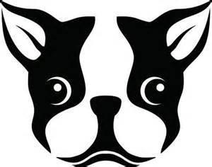 a stencil of a boston terrier dog gifts for wee ones