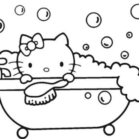 bubble kitty coloring page how to draw bathtub for bath coloring pages how to draw