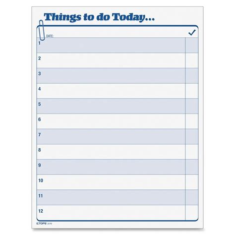 5 Things To Do Today by Tops Things To Do Today Pad Ld Products