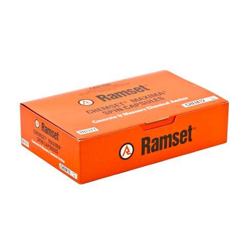 Chemical Ramset ramset m12 maxima masonry chemical acrylate epoxy capsule