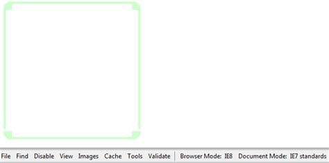 Table Border Radius by Html Css Corner On Table Edges Issue In Document Mode Ie7 Standards Stack Overflow