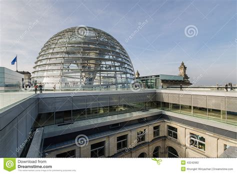 Dompet Pria Berliano view of reichstag dome on roof top editorial photography