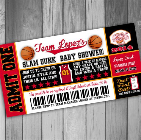 Basketball Baby Shower Invitations by Miami Heat Inspired Baby Shower Invitation By Claceydesign