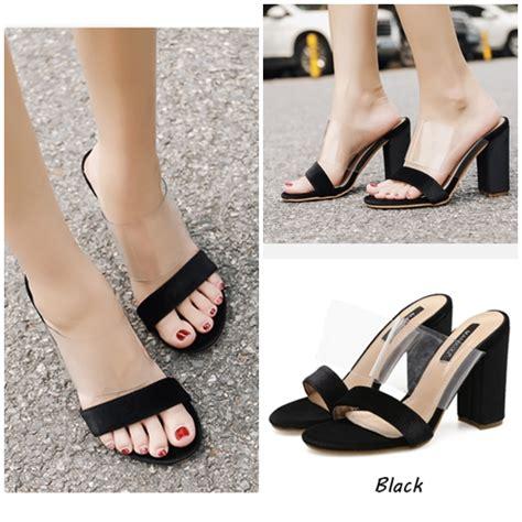 Sepatu Suede Cantik Pc Jual Shh59415 Black Sepatu Heels Suede Cantik 10 5cm