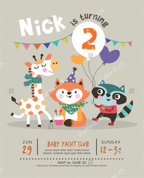 kid birthday invitation card template 22 beautiful birthday invitations free psd eps