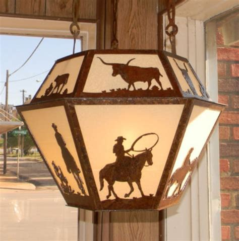 cowboy decorations for home cherokee iron works rustic western lighting rustic