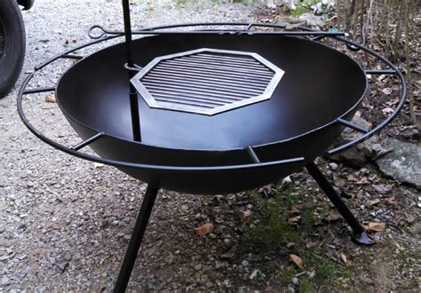 custom steel pit w grill brad greenwood designs