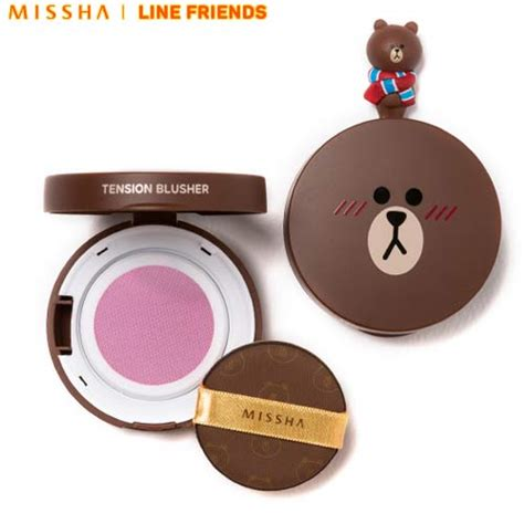 Missha Line Friends Edition Tension Blusher Or01 Apricot Tart box korea missha tension blusher 8g line friends limited edition best price and