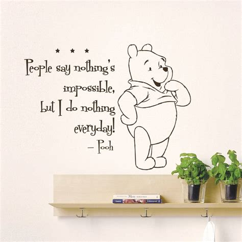 Nursery Quote Wall Stickers cute winnie the pooh quotes like success