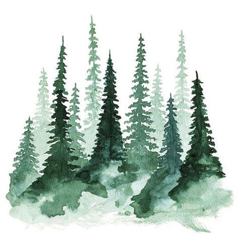 winter woods watercolor clip pine trees snow log cabin watercolor background horten hobby bli inspirert mal med akvarell
