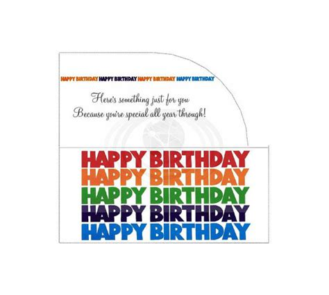 printable birthday cards money happy birthday money gift card envelope printable pdf