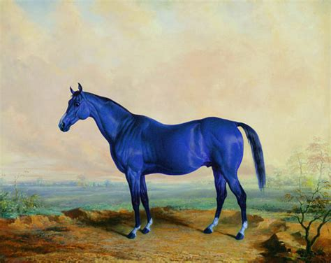 blue horses blue http www 5piecesgallery product matthew