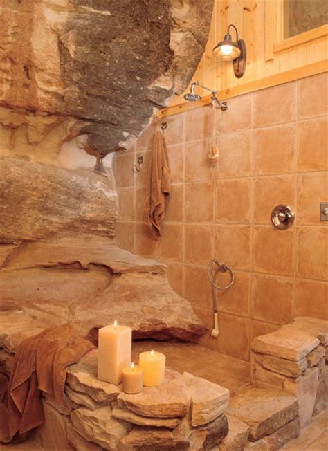 cave bathroom ideas open shower a house carved into a mountain absolutely