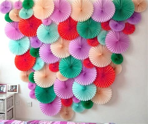 Paper Craft Decoration Ideas - decorative paper fans picture more detailed picture