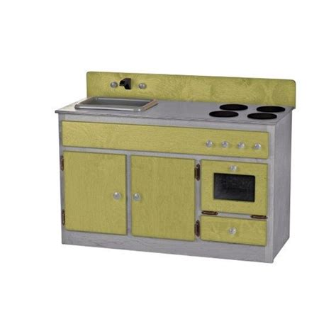 children s real wood play kitchen sink stove combo