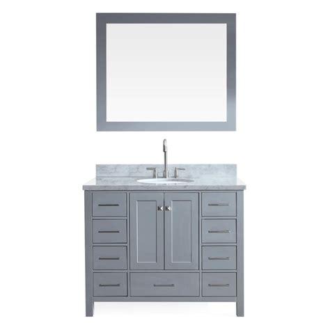 49x22 bathroom vanity top ariel cambridge 43 in bath vanity in grey with marble vanity top in carrara white with white